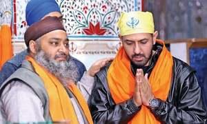 Indian celebrity performs rituals at Gurdwara Punja Sahib