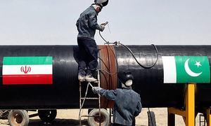 'پاک-ایران گیس پائپ لائن منصوبے پر کام رُک گیا'