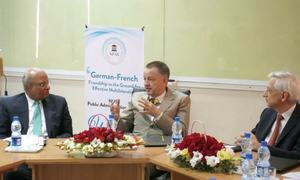 French, German envoys deliver lecture
