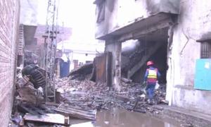 لاہور: فیکٹری میں سلنڈر پھٹنے سے آتشزدگی، 11 افراد جاں بحق