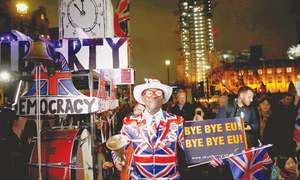 Britain sees 'new dawn'  in farewell to EU
