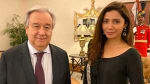 UN chief meets Goodwill Ambassador Mahira Khan in Islamabad