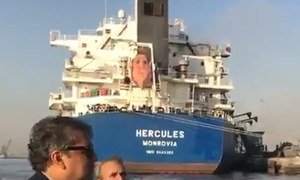 کراچی: سویابین لانے والے بحری جہاز کو رات 8 بجے پورٹ سے منتقل کرنے کا اعلان