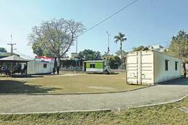 Shelter home at public park inconveniences visitors