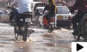 کراچی میں ایمپریس مارکیٹ کے اطراف سیوریج کے پانی سے شہری پریشان