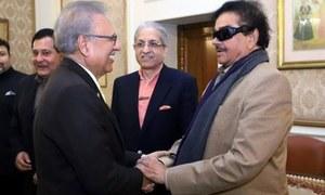 شتروگن سنہا کی پاکستانی دورے کے دوران صدر مملکت سے ملاقات