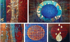 Paintings describe details of the earth's crust