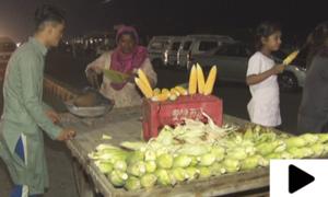 بھٹے بیچ کر بچوں کا پیٹ پالتی کراچی کی باہمت خاتون
