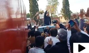 رہنما مسم لیگ (ن) شاہد خاقان عباسی اور احسن اقبال اڈیالہ جیل سے رہا