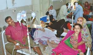 170 hospitalised after eating stale food at ceremony near Larkana