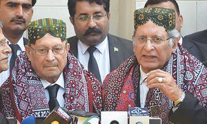 Nawaz's stay abroad guarantees stability to Imran's govt, says Aitzaz