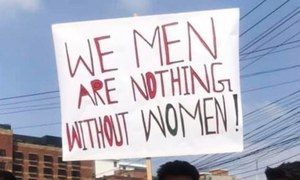 How many men are too many men at Aurat March?