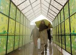 Sanitising walk-through gate inaugurated at Sabzi Mandi