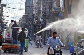Roads, streets and bazaars disinfected in Pindi