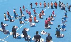 Karachi Sports Forum reaches out to over 50 hockey players, ground staff in welfare drive