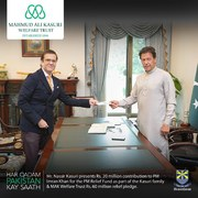 MAK Welfare Trust and Kasuri family pledge Rs60 million to help Pakistan fight Covid-19
