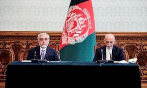 Afghan president and rival announce power-sharing agreement