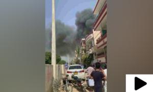 کراچی میں پی آئی اے کا مسافر طیارہ گر کر تباہ