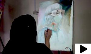 کورونا وائرس کے خلاف جنگ میں فنکار بھی میدان میں آگئے