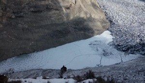Surging glacier creates lake, floods Pakistan valley