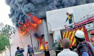 Cooking oil godown gutted in fire