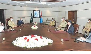 Services chiefs attend rare briefing at ISI headquarters