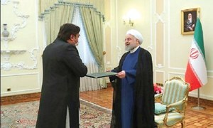 Pak envoy presents credentials to Iranian president