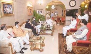 بجٹ پر ووٹنگ سے قبل اسد عمر، گورنر سندھ کی پیر پگارا سے ملاقات