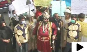 کراچی میں شادی ہال مالکان کا انوکھا احتجاج