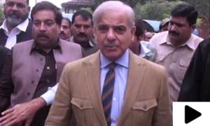 شہباز شریف کی لاہور ہائیکورٹ آمد پر لیگی کارکنان اور پولیس اہلکاروں میں تلخ کلامی