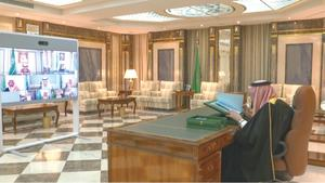 Ailing Saudi king chairs cabinet from hospital office