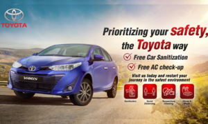 Toyota is now offering free car sanitisation with every service availed at the dealership