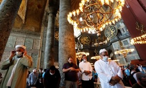 In pictures: Istanbul's iconic Hagia Sophia opens as a mosque after nearly nine decades