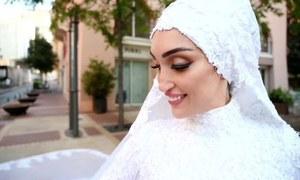 جب شادی کے فوٹوشوٹ کے دوران بیروت دھماکوں سے لرز اٹھا