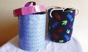 Wonder Craft: Plastic bottle storage box and basket