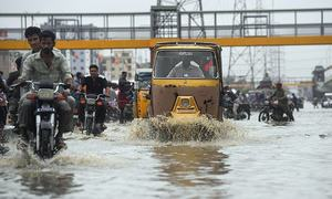 No respite: Met issues urban flooding alert for Karachi as heavy rain lashes city yet again