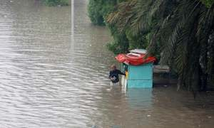 Water, water everywhere: Karachi, Hyderabad struggle to stay afloat after two days of rain