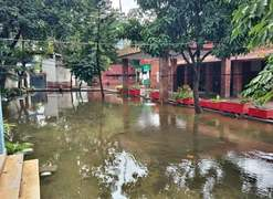 Rain again exposes dilapidation of police building