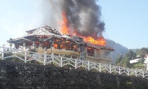 مالم جبہ میں مسلم لیگ (ن) کے رہنما امیر مقام کی رہائش گاہ میں آتشزدگی