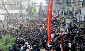 Ashura observed in Rawalpindi amid strict security