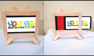 Wonder Craft: TV-shaped mobile stand