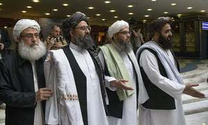 Taliban say negotiating team in Qatar for Afghan peace talks