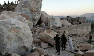 11 killed in rockslide at marble mine in KP's Mohmand