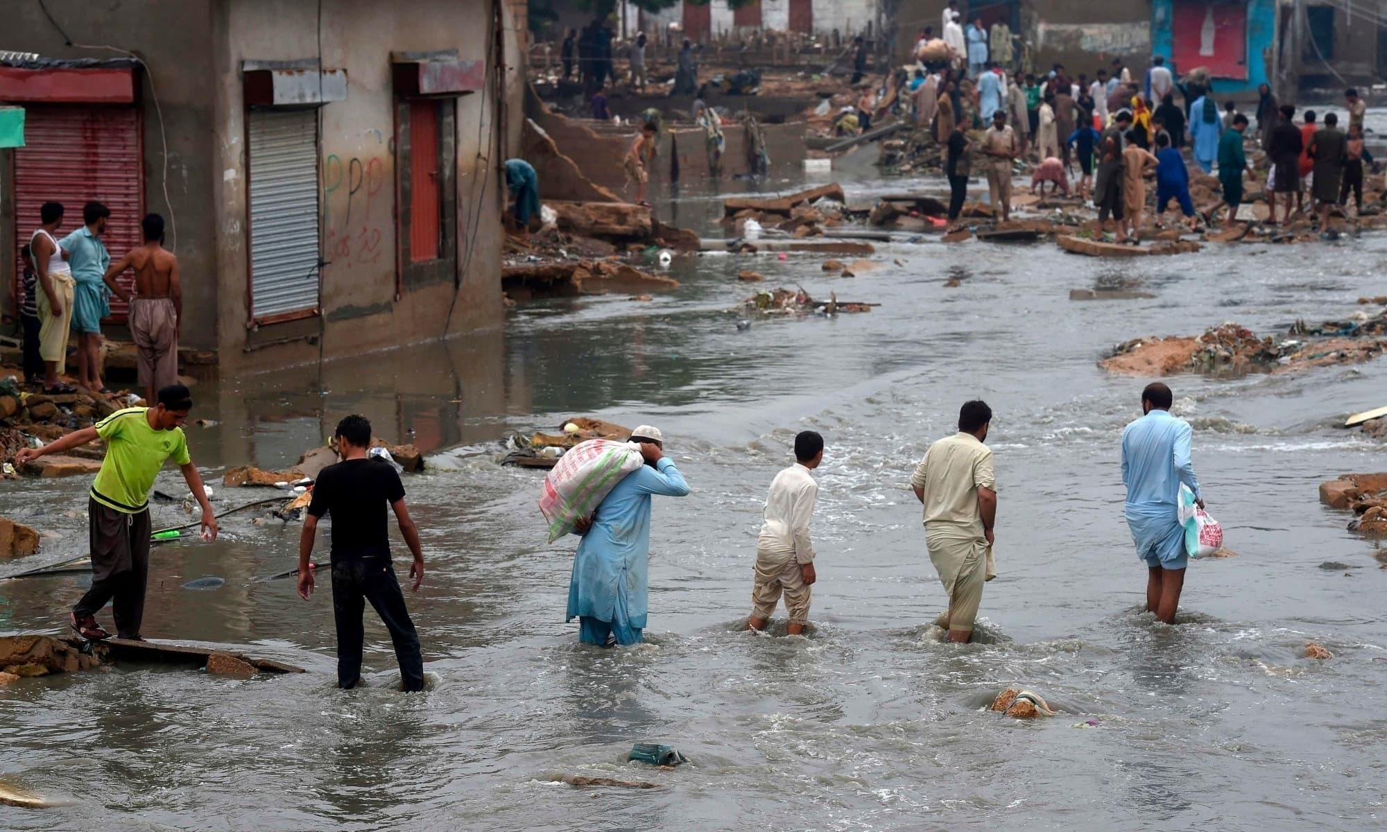 این ڈی اے ایم کو سندھ، خیبرپختونخوا میں سیلاب سے حالیہ تباہی کا تخمینہ لگانے کی ہدایت