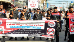 Hundreds attend anti-drug rally in Turbat