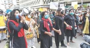 Women enraged at Motorway rape stage protest, seek justice for victim