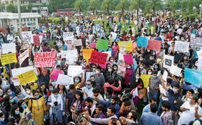 Hundreds gather to protest gang rape