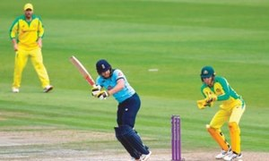 Ton-up Bairstow powers England past 300 in decider