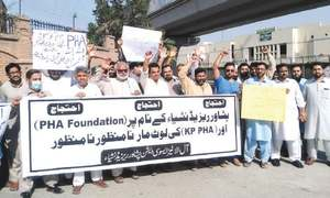 Allottees of PHA housing scheme stage protest