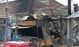 Three shops damaged in gas cylinder blast